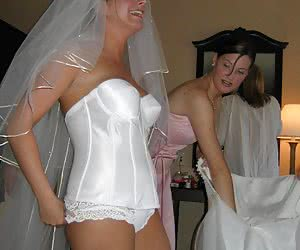 Most exciting hot brides in white dresses