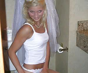 Not to missed amateur pics from kinky bridal ceremony