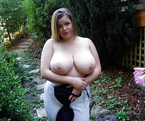 Big breasted mature naturtists