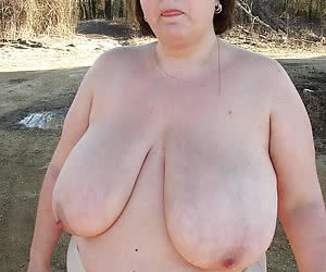 Huge breasted mature naturists