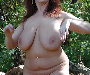 Huge breasted naked naturist women