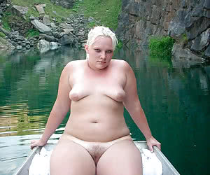 Shy chubby virgins naked outdoors