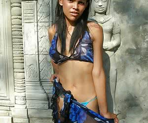 Hot and busty thai ladyboy showing her sweet juggs and cock