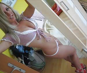 Sexy lingerie with horny pussy gall