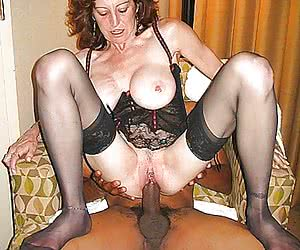 nylon stockings interracial milf fuck
