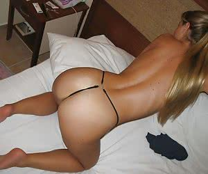 Ordinary girlfriends showing off their butts in sexy thongs