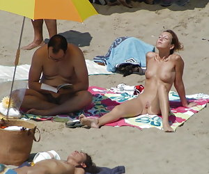 A busty babe at the Biarritz
