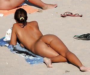 A lady on open swim suit at the Surfer's Paradise
