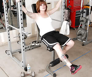 MistyB-Messing around in the gym Pictures