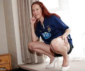 Here's Angela looking angelic in a Fenerbache shirt.  We all know that Fenerbache fans are themselves angelic so Angela