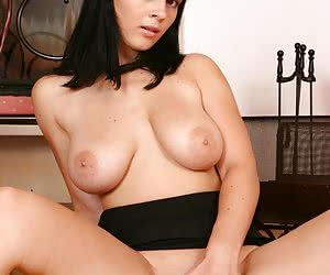 Big beautiful blondie Anya shows big tits and small pussy