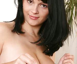 Busty Anya showing her boobs and pink tight fuckhole