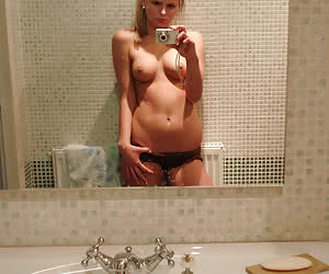 Adorable slender girlfriends posing and getting photographed naked