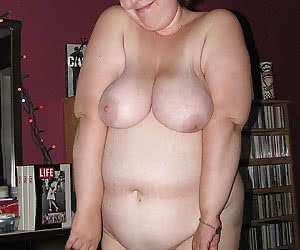 A bit shy fat young girls photographed nude