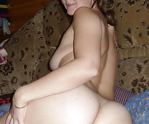 Chubby virgins shy to show tits, but show asses