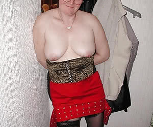 Fat old maidens shy to get nude on camera