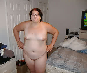 Small titted shy fatties standing nude and ready for sex