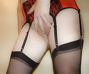 Crossdressers in lingerie having fun gallery