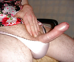Perverse Crossdresser posing in Panties series