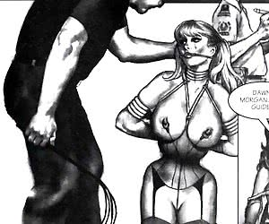 A woman brutally fucked in this porn comics