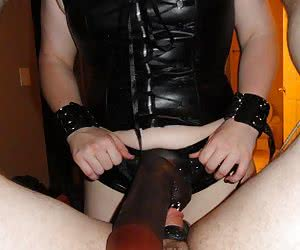 Enormous black dick in the ass of a slave guy