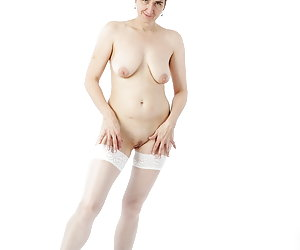 I in a youthful Outfit.Look like a young Girl.My white Nylons fit but wonderful, right