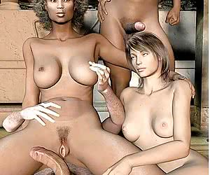 3d Interracial Fucking