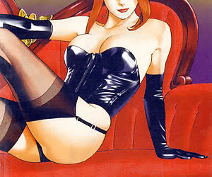 Drawn beauties from these latex manga look fascinating in latex clothes and tight-fitting stockings.