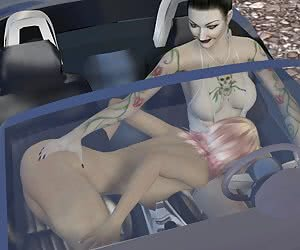 BMW girl and young slut road adventure