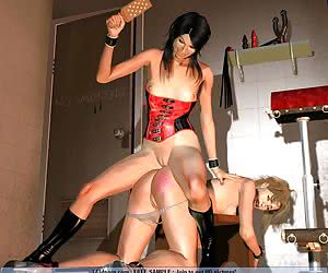 Hot wax, dildos and gynecological chairs in lesbian games