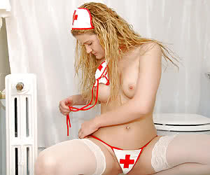 Nurse in Stockings