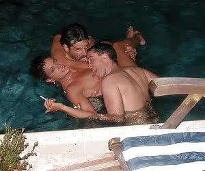 Amorous matures MMF threesome pictures