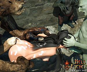 Awesome elven beauty gets fucked like a dog