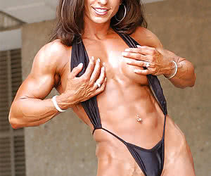 Natural female muscle art.
