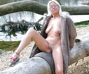 Naked Woman On The Beach