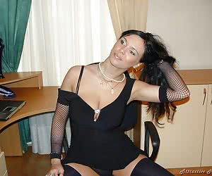 Nice face beautyful body long legs and black nylon