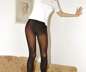 Teen girls in pantyhose in sexy poses