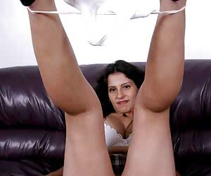 Perfect babe spread legs and takes cock