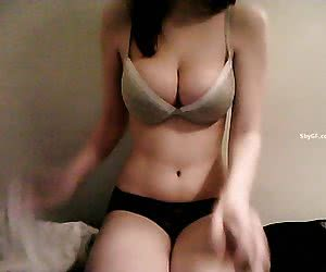Sexy brunette shows nice curves