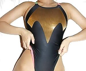 Asian in One Piece Swimsuit