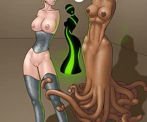 Sexy chicks fucked by tentacles