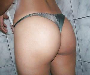 Girls next door exposing their tight butts in sexy thongs