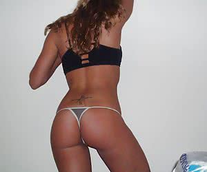 Ordinary girlfriends often love to wear extremely sexy thongs