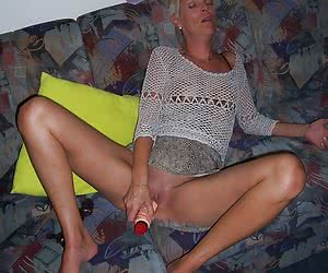 Lady showing off her toys gall