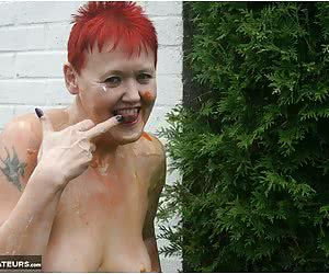 Don't you just love a gal who covers herself in custard, just for you to lick off.