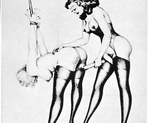 Beautiful and tempting porn scenes are drawn by the masters of vintage sex cartoons.