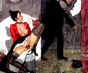 Beautiful old style porn is drawn for vintage erotic cartoons.