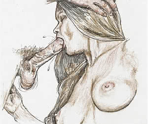 Cock sucking is an ancient job and was drawn in vintage erotic cartoons.