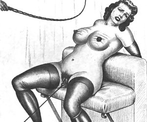 Desirable females look on you from the past in this vintage porn cartoon.