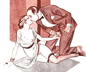 Hot and lusty coitus is described in minute details in this old cartoon porn.